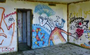 Graffiti erobert Ruine